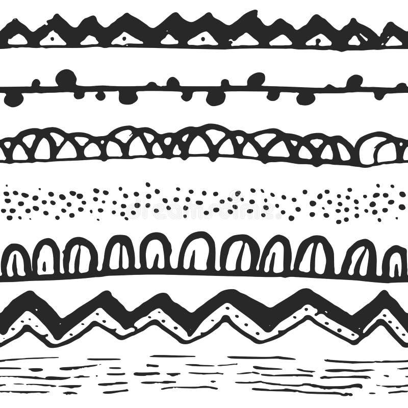 Орнаментальная этническая безшовная картина иллюстрация штока