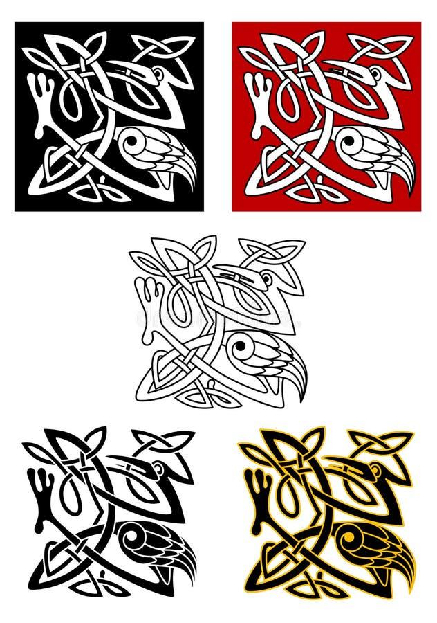 Орнаментальные птицы в кельтском стиле бесплатная иллюстрация