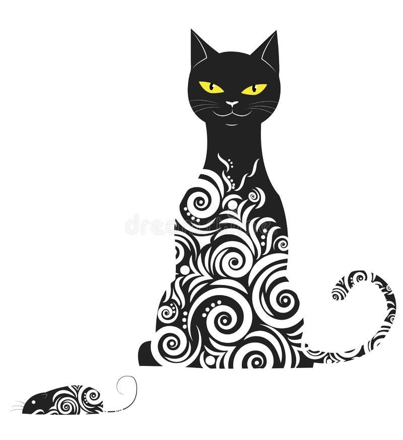 Download Орнаментальный кот иллюстрация вектора. иллюстрации насчитывающей tomcat - 33726066