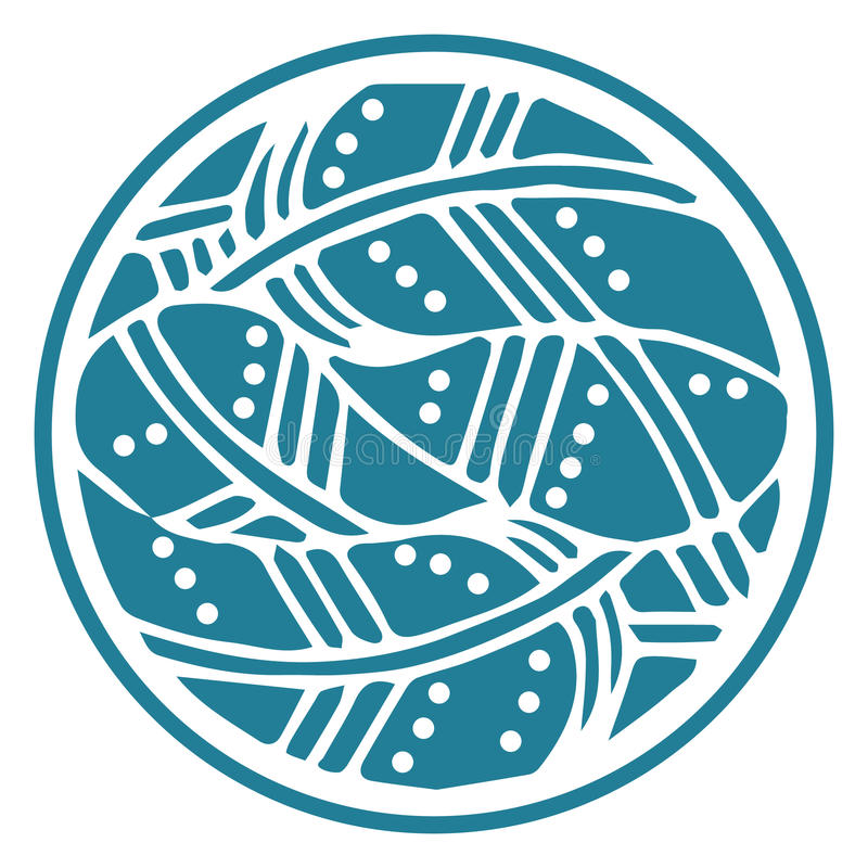Орнаментальный круг оперяется мандала на белой предпосылке Розетка цифров бесплатная иллюстрация