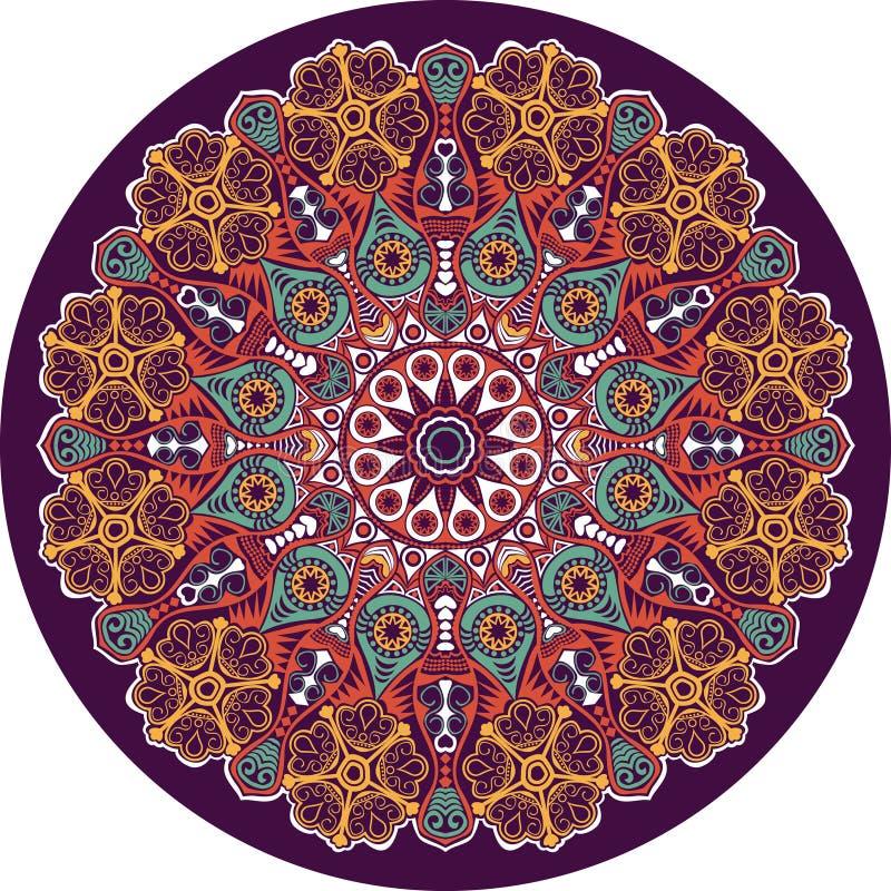 Орнаментальный круглый шнурок иллюстрация штока