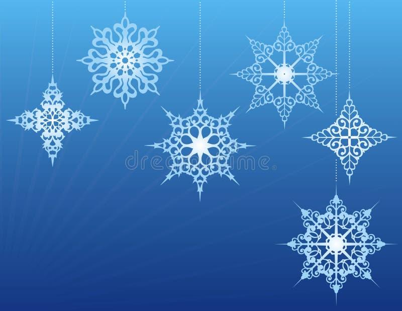 орнаментирует снежинку бесплатная иллюстрация