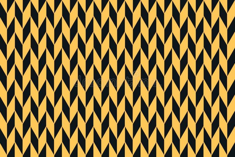 Орнаментируйте черное и желтое шевронное Декоративная предпосылка картины шеврона бесплатная иллюстрация