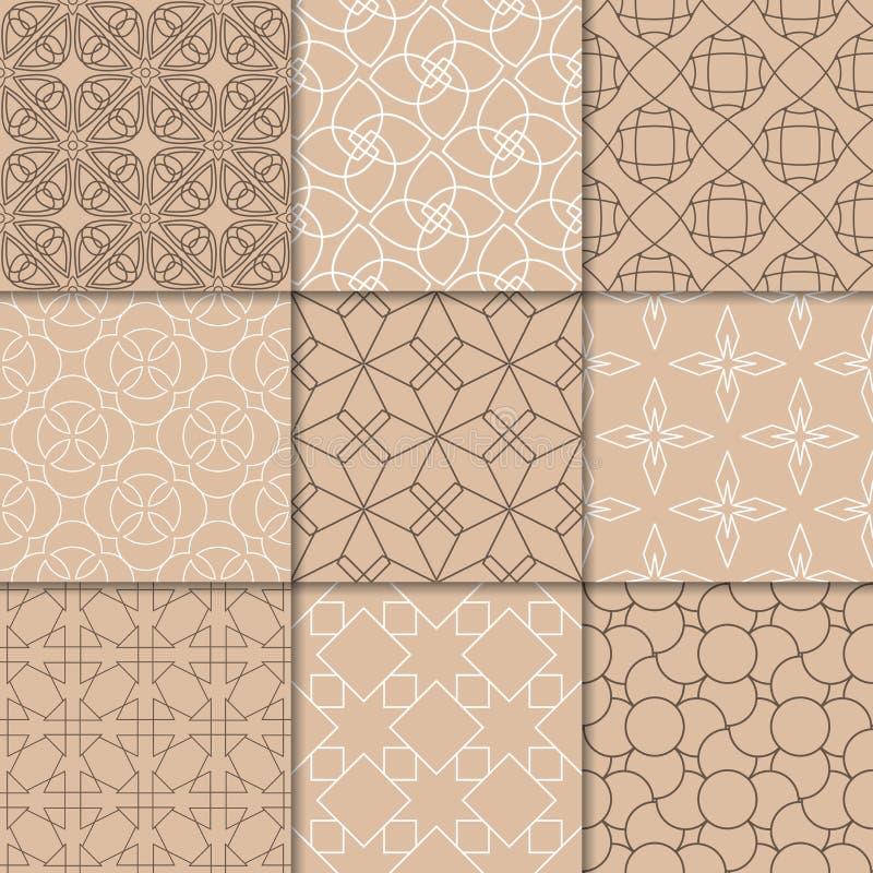 Орнаменты Брайна бежевые геометрические собрание делает по образцу безшовное бесплатная иллюстрация