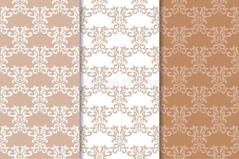 Орнаменты Брайна флористические Комплект вертикальных безшовных картин бесплатная иллюстрация