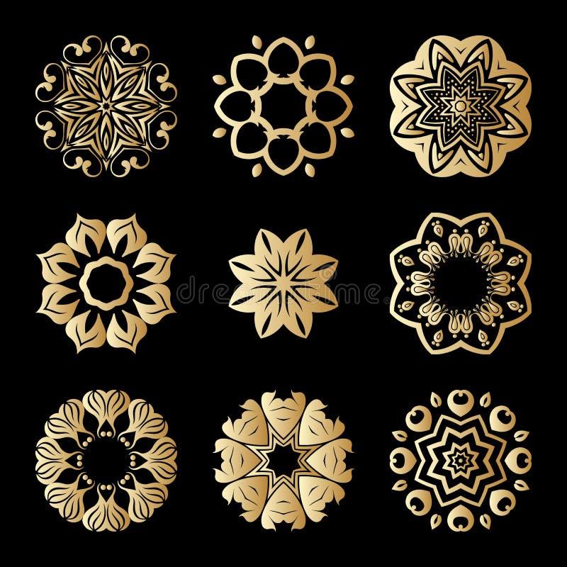 Орнаменты золота вектора. иллюстрация штока