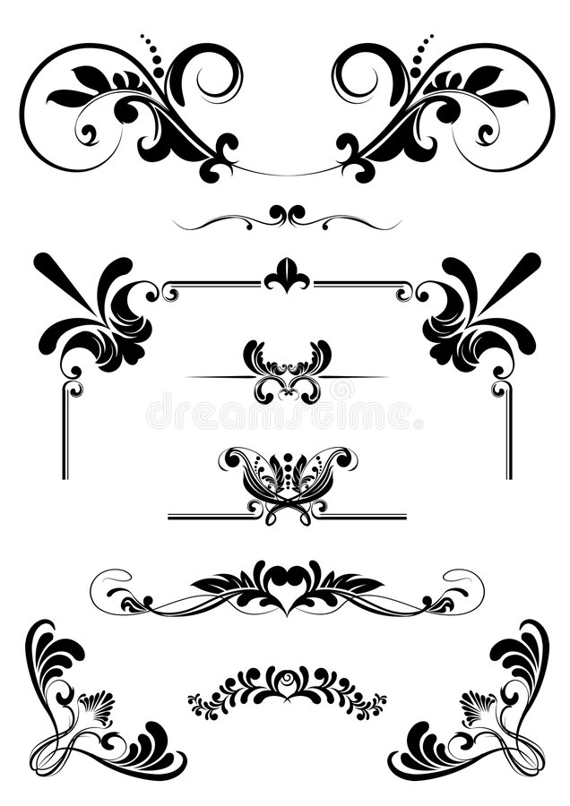 орнаменты конструкции иллюстрация штока