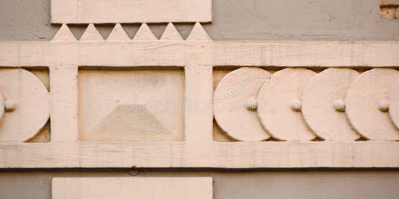 Орнаменты на историческом доме XIX века в Greifswald, Германии стоковое фото rf