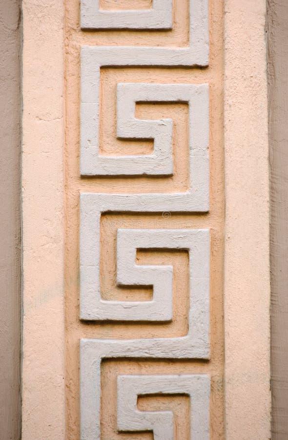 Орнаменты на историческом доме XIX века в Greifswald, Германии стоковая фотография
