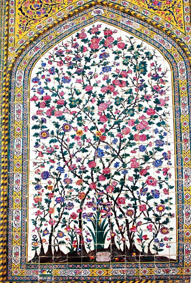 Орнаменты от мечети Vakil, Шираза, Ирана стоковая фотография rf