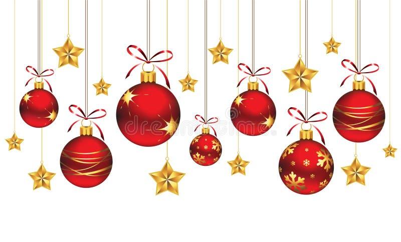 орнаменты рождества иллюстрация вектора