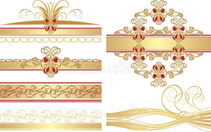 орнаменты собрания готские иллюстрация штока