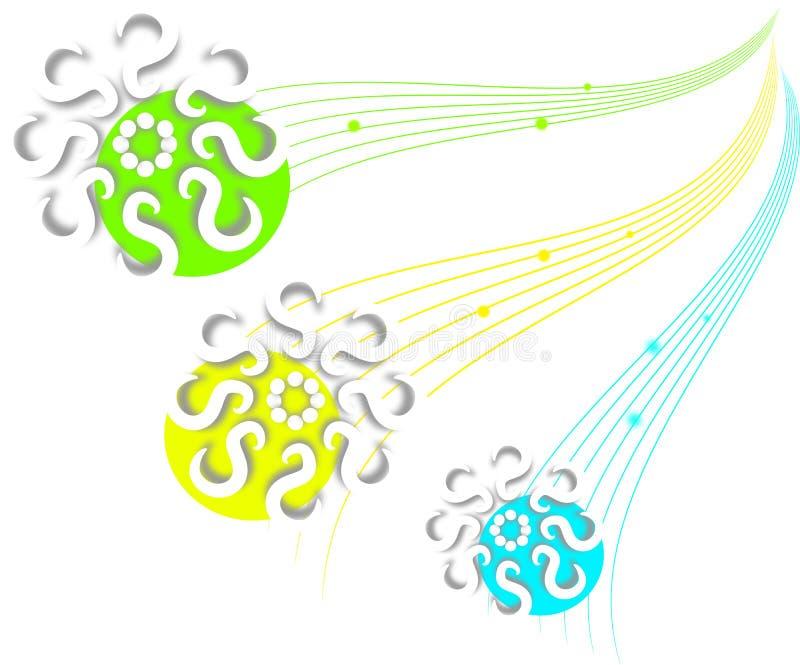 Орнаменты с кругами цвета иллюстрация штока