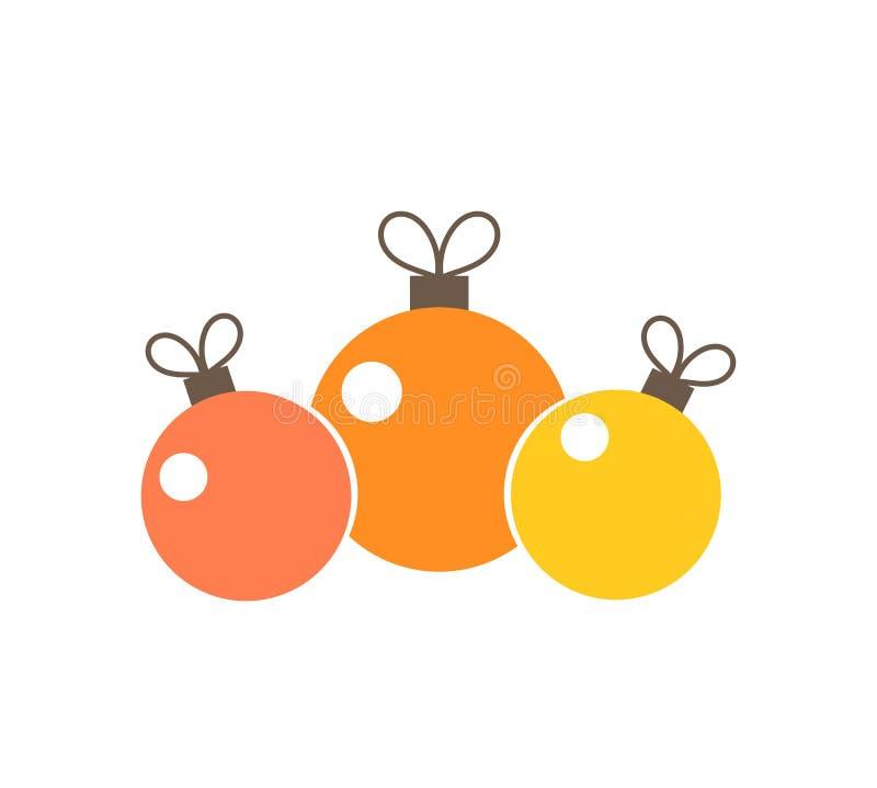 Орнаменты шариков рождества бесплатная иллюстрация