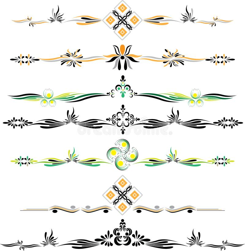 Орнаменты eps10 цвета вектора декоративные иллюстрация вектора