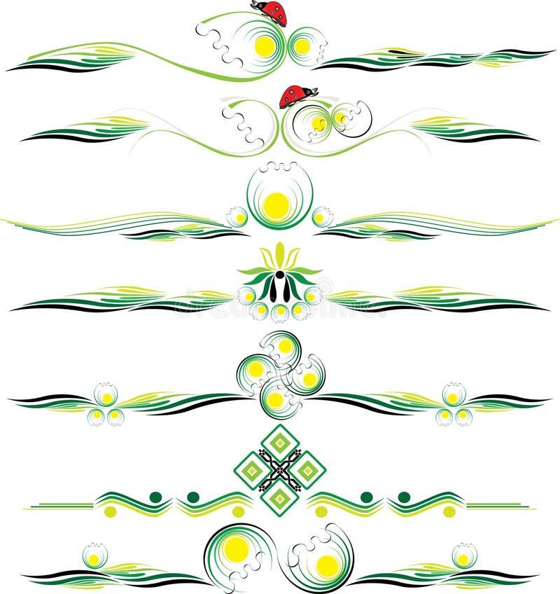 Орнаменты eps10 цвета вектора декоративные иллюстрация штока