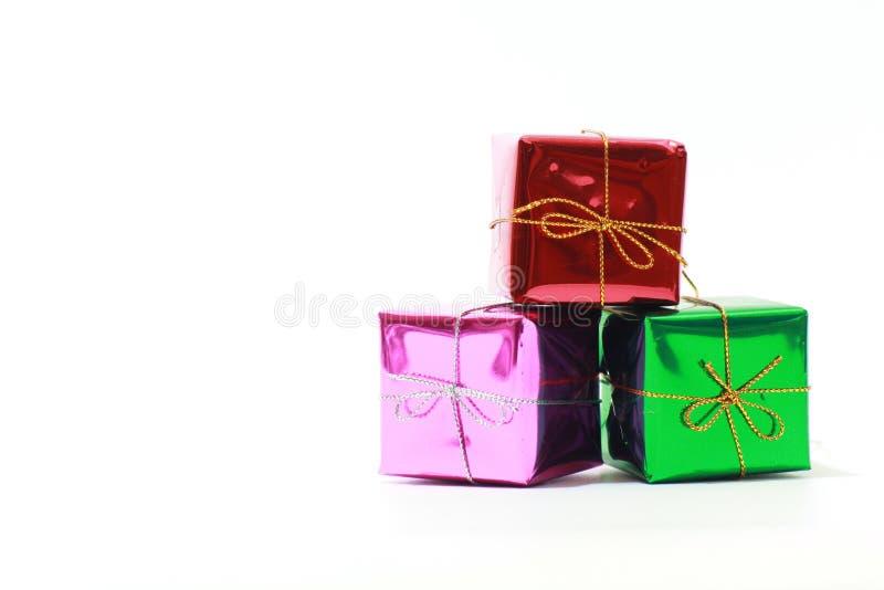 орнаменты happyxmas giftbox подарка рождества предпосылки newyear представляют xmas стоковое изображение