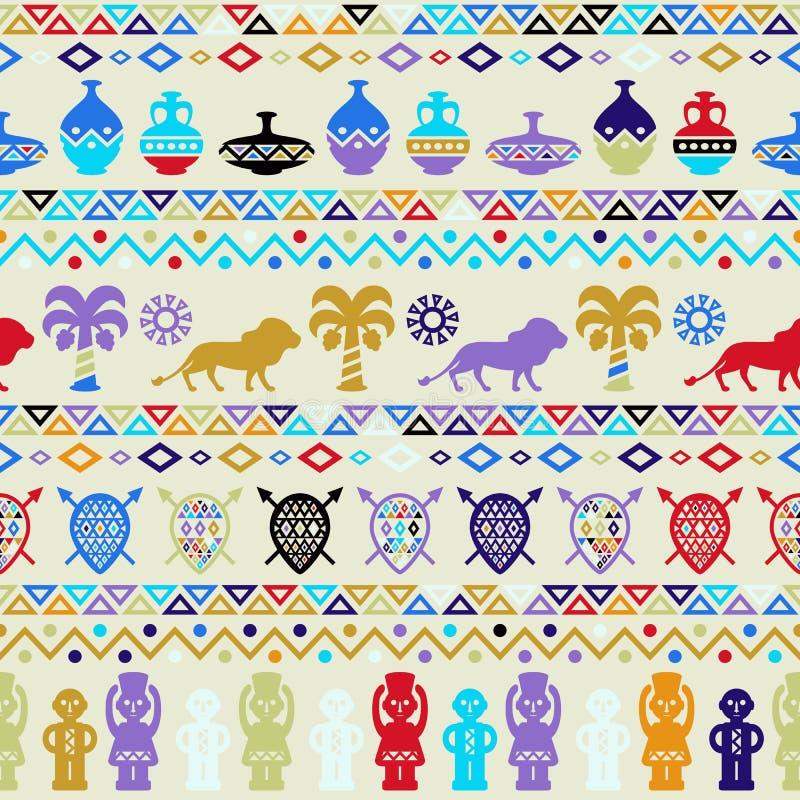 Орнамент африканской племенной картины этнический иллюстрация штока