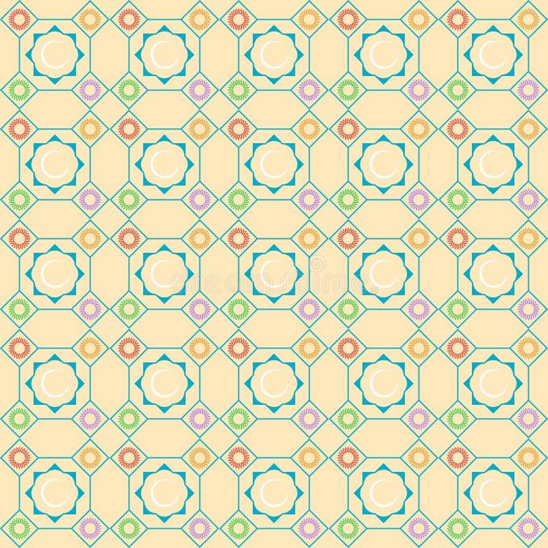 Орнамент безшовных картин исламский Предпосылка с безшовной картиной в исламском стиле стоковая фотография rf