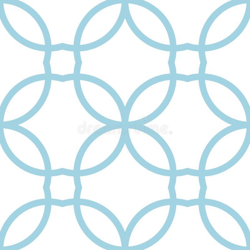 Орнамент белизны и сини военно-морского флота геометрический картина безшовная иллюстрация штока