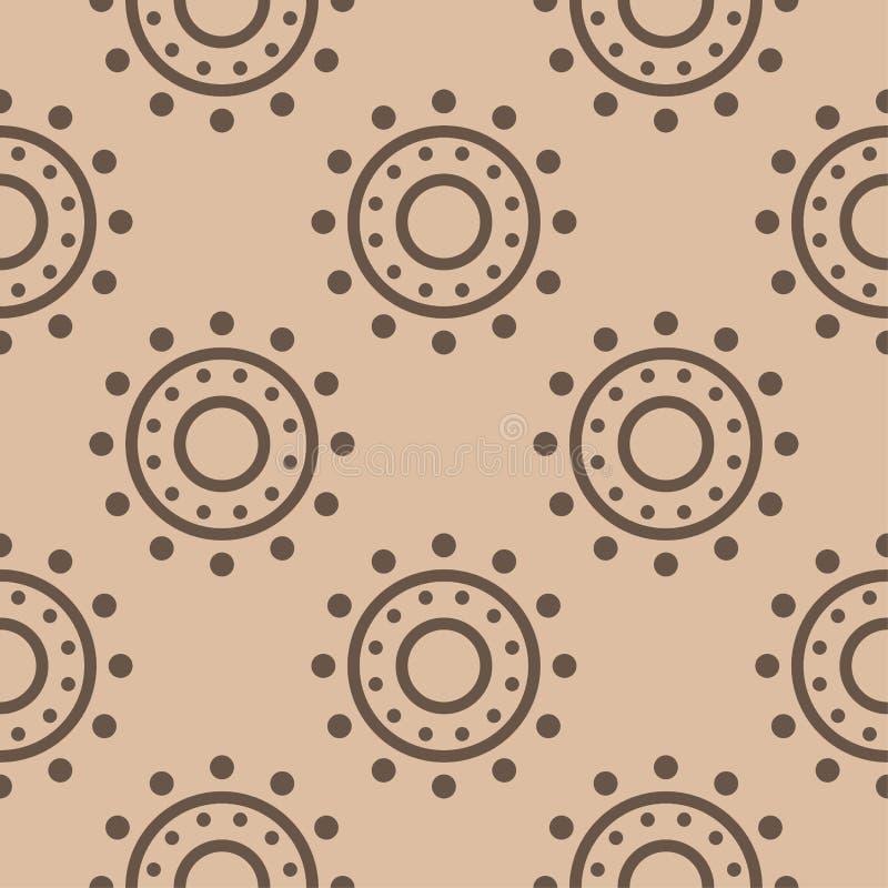 Орнамент Брайна геометрический картина безшовная иллюстрация вектора