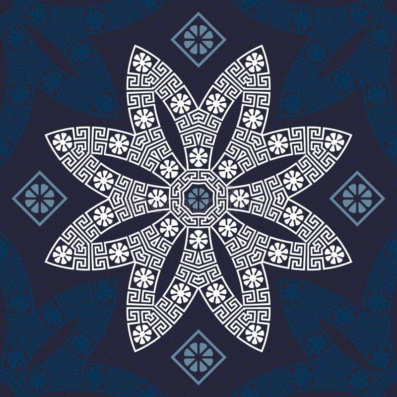 Орнамент вектора безшовный традиционный винтажный греческий иллюстрация штока