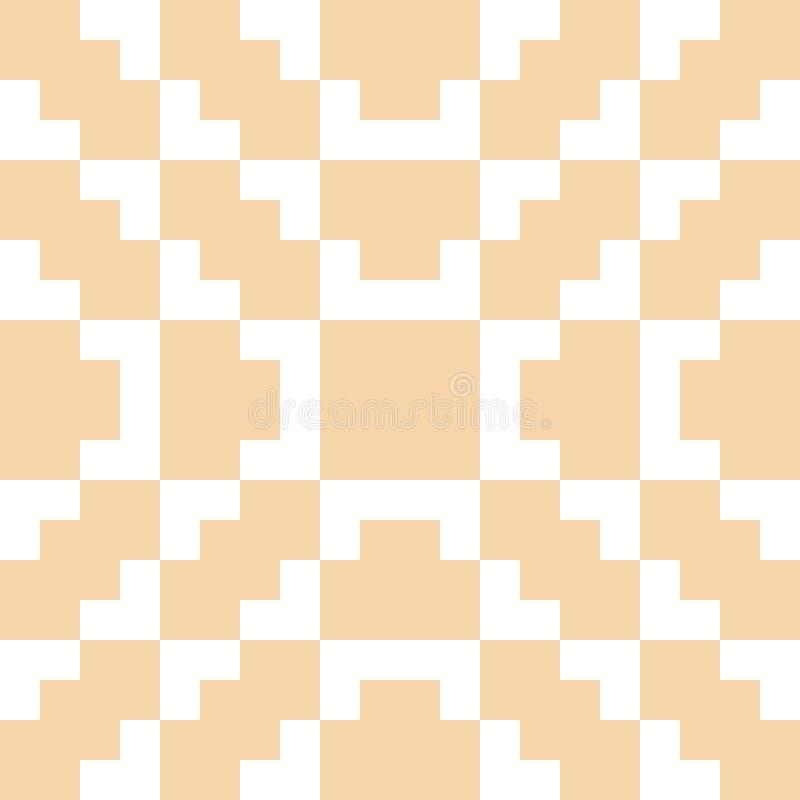 Орнамент вектора геометрический традиционный фольклорный Белая и желтая безшовная картина бесплатная иллюстрация