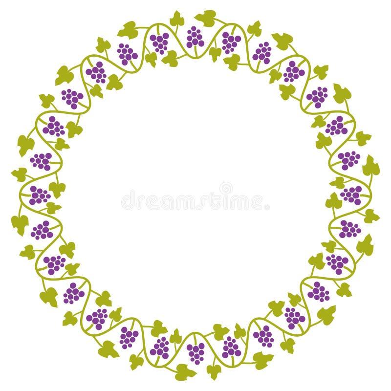 Орнамент виноградины круглый иллюстрация штока