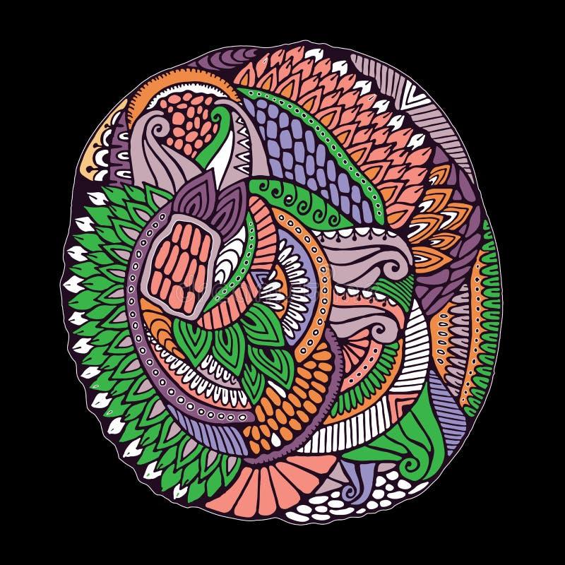 Орнамент волны притяжки руки doodles запаса милый Шаблон для бесплатная иллюстрация