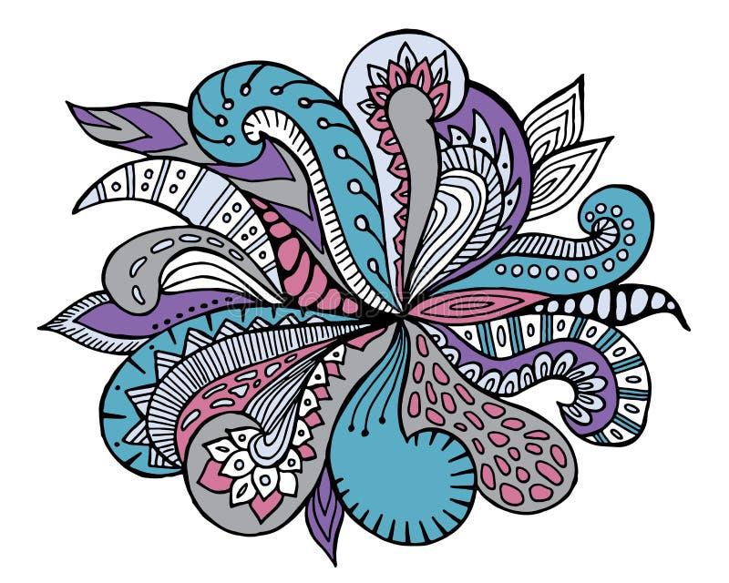 Орнамент волны притяжки руки doodles запаса милый Шаблон для иллюстрация штока