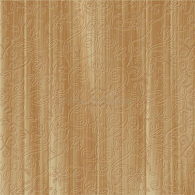 орнамент высеканный доской флористический деревянный иллюстрация штока