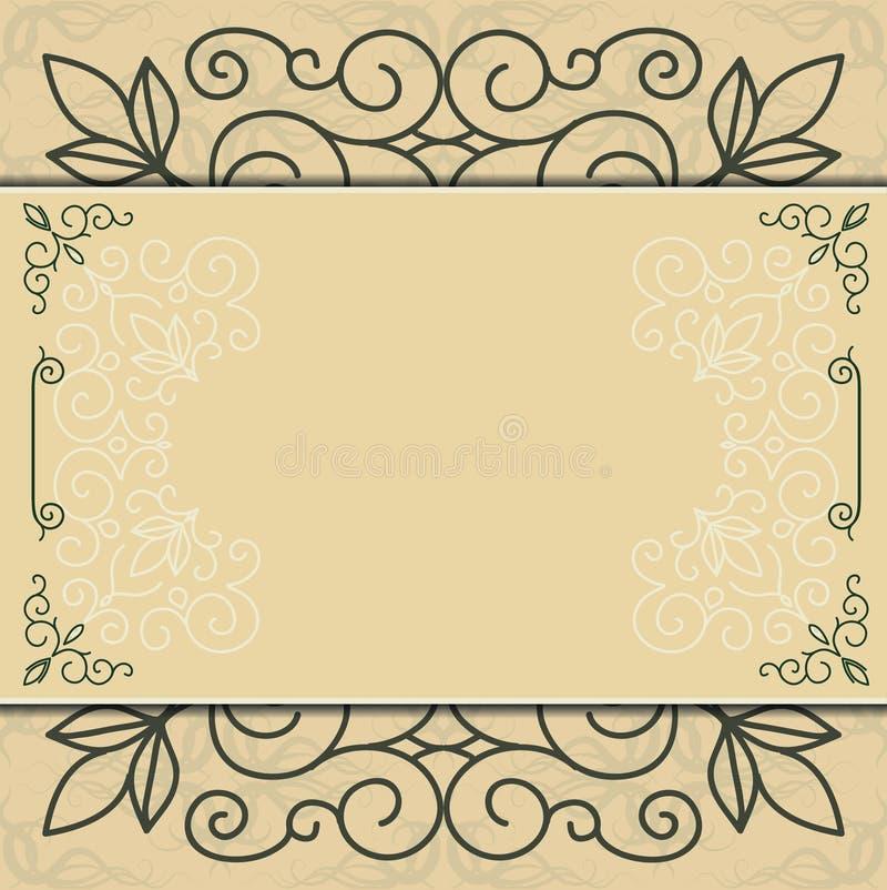 Орнамент для приглашений, поздравительная открытка, меню иллюстрация штока