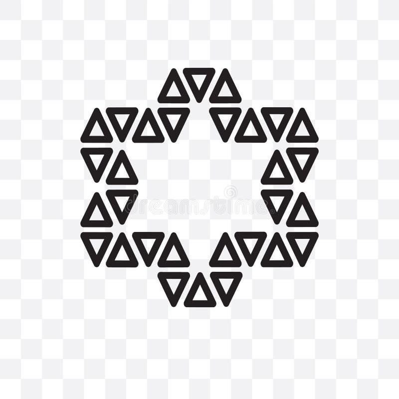 Орнамент значка небольшого вектора треугольников линейного изолированного на прозрачной предпосылке, орнамент звезды звезды небол иллюстрация вектора