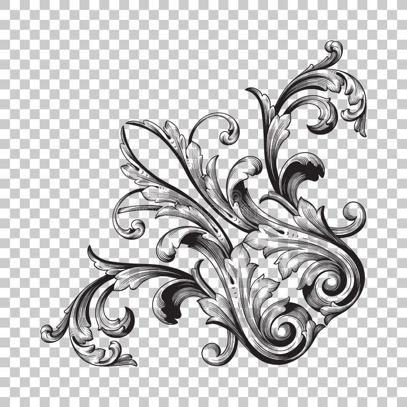 Орнамент изолята угловой иллюстрация вектора