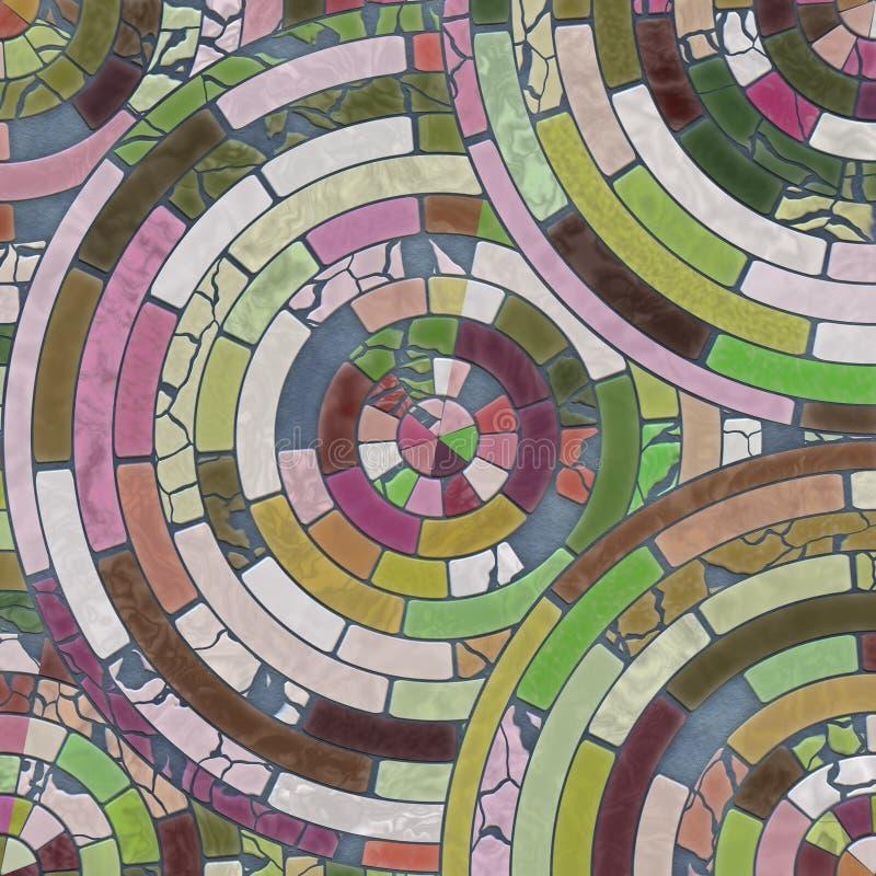 Орнамент керамических плиток в форме кругов стоковые изображения