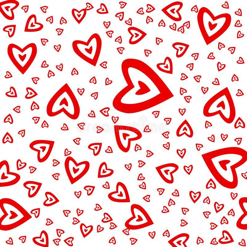 Орнамент красного цвета сердца стоковое фото rf