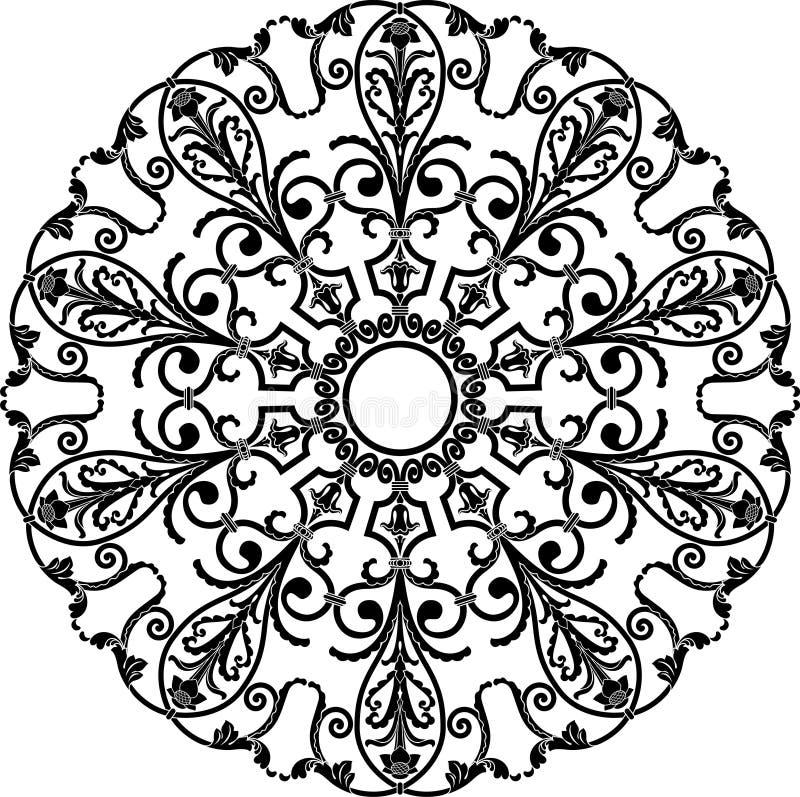Орнамент круга иллюстрация штока