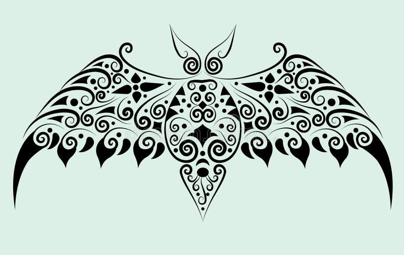 орнамент летучей мыши декоративный иллюстрация вектора