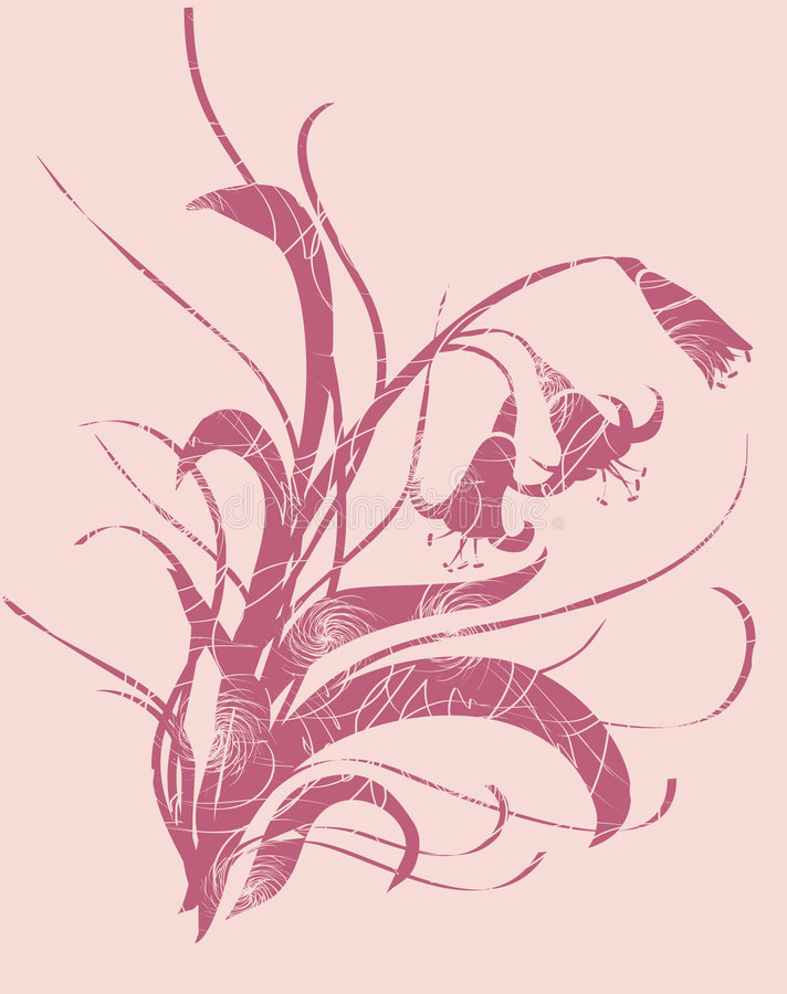 орнамент лилии стоковые изображения rf