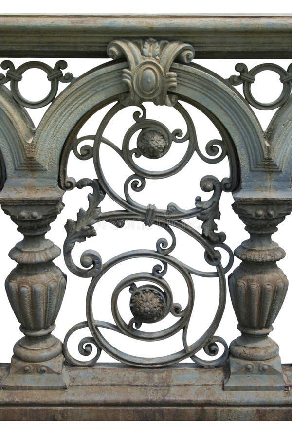 орнамент литого железа стоковое фото rf