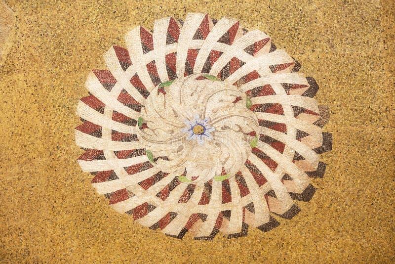Орнамент мозаики от фасада базилики St Mark в Венеции стоковая фотография