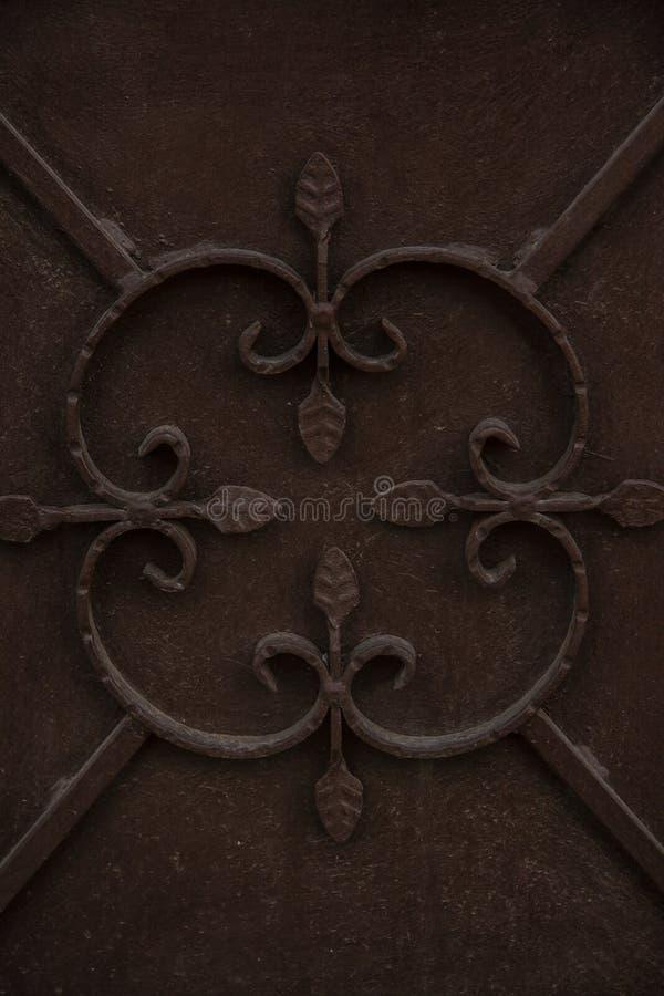 Орнамент на двери стоковое фото rf