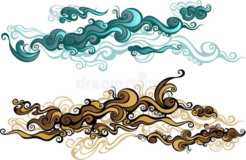 орнамент облака иллюстрация вектора