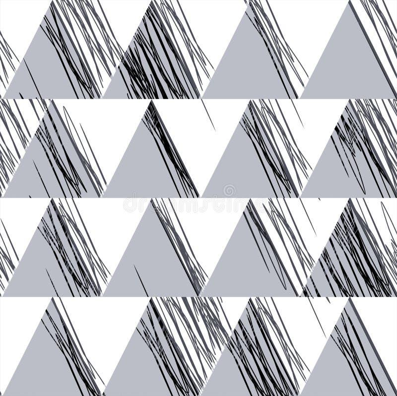Орнамент от треугольников и свободных линий иллюстрация вектора