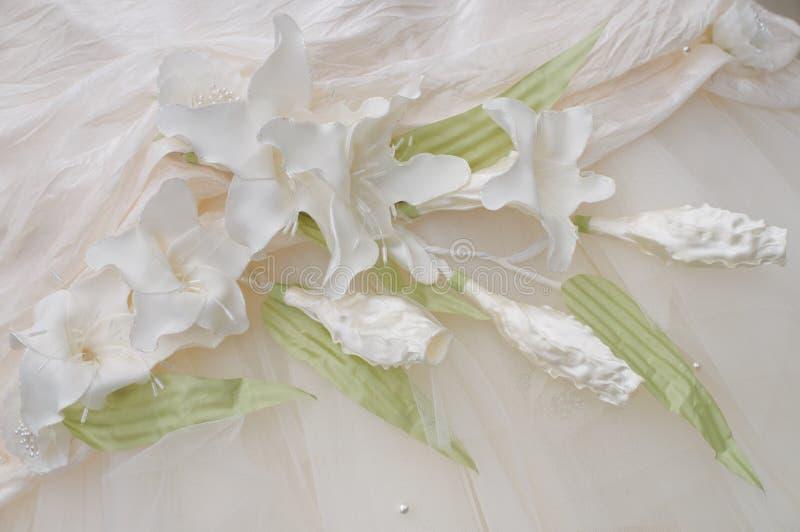орнамент платья невесты стоковое изображение rf
