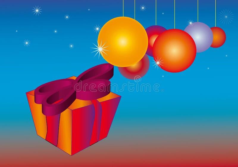 орнамент подарков рождества baubles иллюстрация вектора