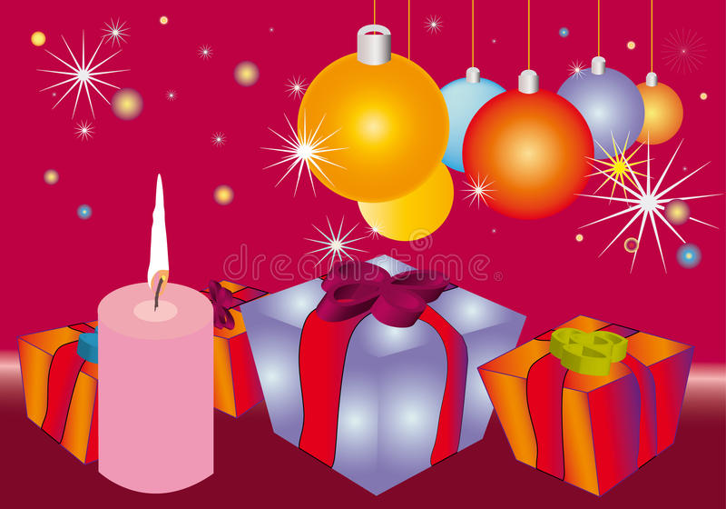 орнамент подарков рождества baubles бесплатная иллюстрация
