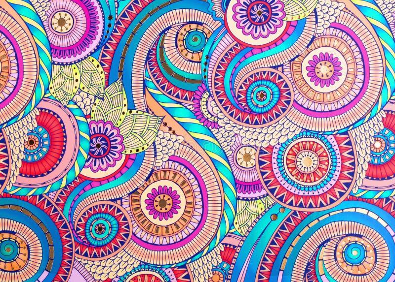 Орнамент покрашенный текстурой на бумаге стоковая фотография rf