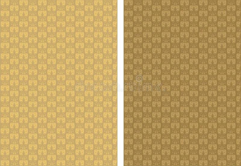 орнамент предпосылки золотистый иллюстрация вектора