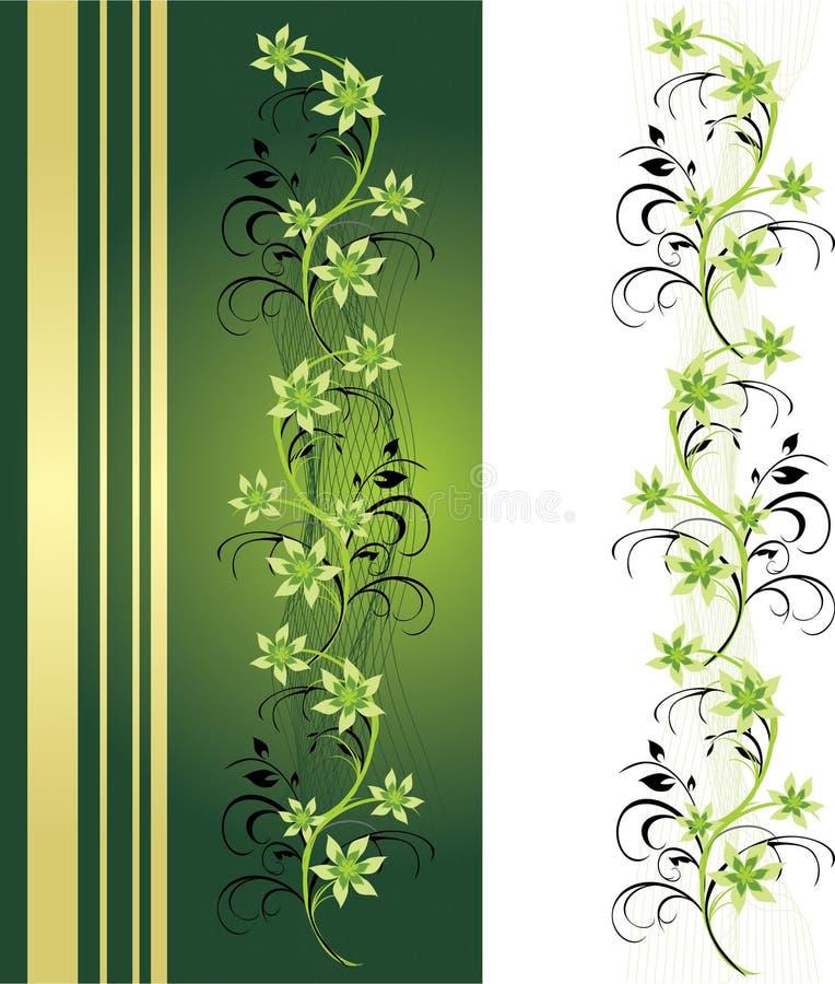 орнамент рамки карточки декоративный флористический иллюстрация вектора